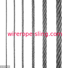 Electric Hoist Steel Wire Rope 6x19 FC Full Size Galvanized / UnGalvanized